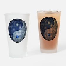 YingYangCloudCapt_Large04edg_3600x3 Drinking Glass