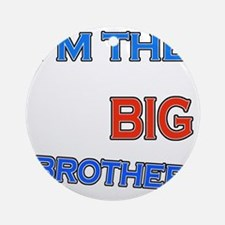 bigbrother-basketball-black Round Ornament
