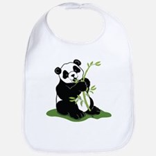 Panda Eating Bamboo Bib