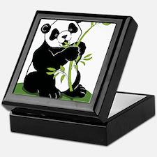 Panda Eating Bamboo Keepsake Box