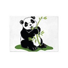 Panda Eating Bamboo 5'x7'Area Rug