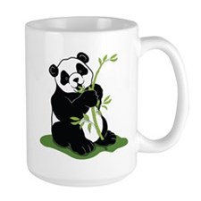 Panda Eating Bamboo Mugs