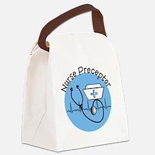 nurse preceptor blue 9 Canvas Lunch Bag