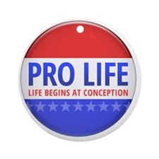 apr12_pro_life_button Round Ornament