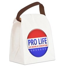 apr12_pro_life_button Canvas Lunch Bag