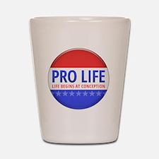 apr12_pro_life_button Shot Glass