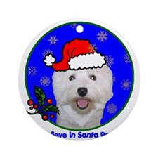 westiexmas-shirt Round Ornament
