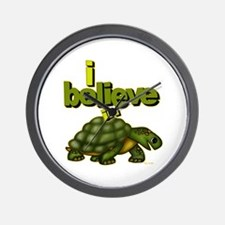 I believe in turtles! Wall Clock