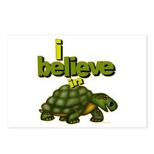 I believe in turtles! Postcards (Package of 8)