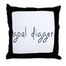 goal digger Throw Pillow