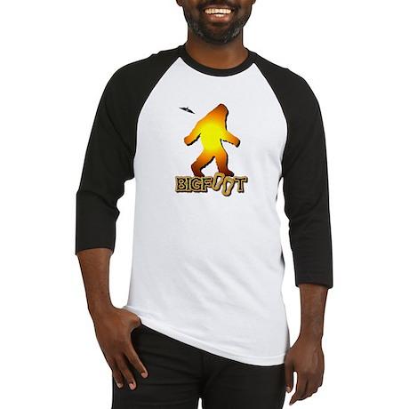 Bigfoot in Orange Baseball Jersey