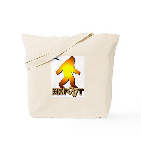 Bigfoot in Orange Tote Bag