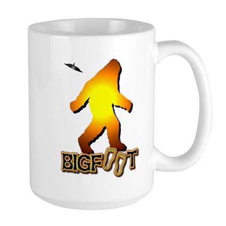 Bigfoot in Orange Large Mug