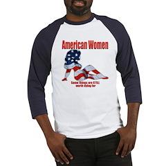 American Women Patriotic Baseball Jersey
