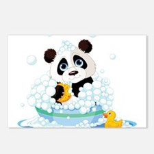 Panda in Bubbles Postcards (Package of 8)