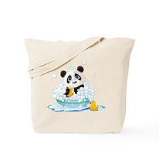Panda in Bubbles Tote Bag