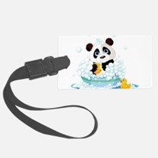 Panda in Bubbles Luggage Tag