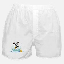 Panda in Bubbles Boxer Shorts