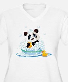 Panda in Bubbles Plus Size T-Shirt