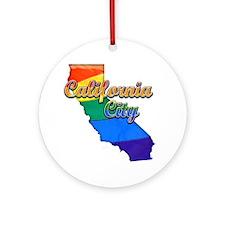 California City Round Ornament