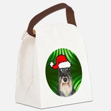 schnauzerxmas-round Canvas Lunch Bag
