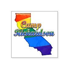"Camp Richardson Square Sticker 3"" x 3"""