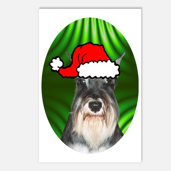 schnauzerxmas-oval Postcards (Package of 8)