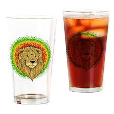 rasta lion Drinking Glass