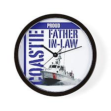 USCG Boat Dad-in-law Wall Clock