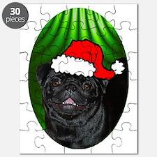 pugxmas(black)-oval Puzzle