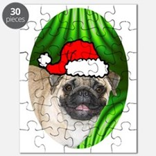 pugxmas(brown)-oval Puzzle