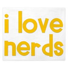 yellow_i_love_nerds King Duvet
