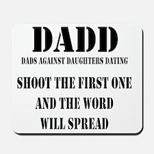 1 DADD Words Black Mousepad