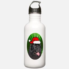 newfoundlandxmas-oval Water Bottle