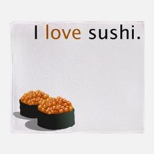 I_love_sushi Throw Blanket