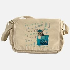 shower-curtain Messenger Bag