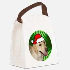 labyellowxmas-round Canvas Lunch Bag