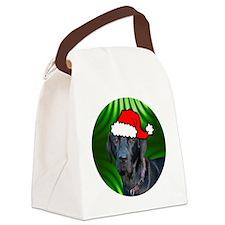 labblackxmas-round Canvas Lunch Bag