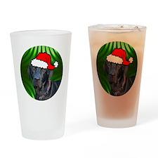 labblackxmas-round Drinking Glass