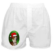 italiangreyhoundxmas-oval Boxer Shorts
