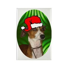 italiangreyhoundxmas-oval Rectangle Magnet