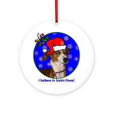 italiangreyhoundxmas-shirt Round Ornament