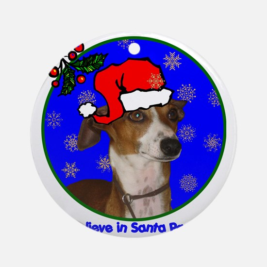 italiangreyhoundxmas-shirt Round Ornament