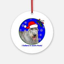 irishwolfhoundxmas-shirt Round Ornament