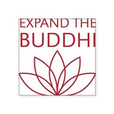 "ExpandTheBuddhi-red Square Sticker 3"" x 3"""
