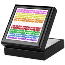 greyscolorcollagewh Keepsake Box