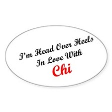 In Love with Chi Oval Decal