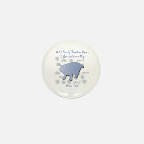 Learned Pixie-Bob Mini Button
