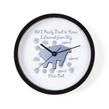 Learned Pixie-Bob Wall Clock