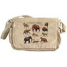 Extinct Animals of North America Messenger Bag